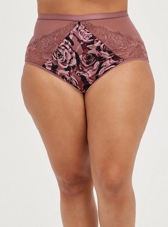 High Waist Panty - Microfiber Camo Rose, ROSEY CAMO, hi-res