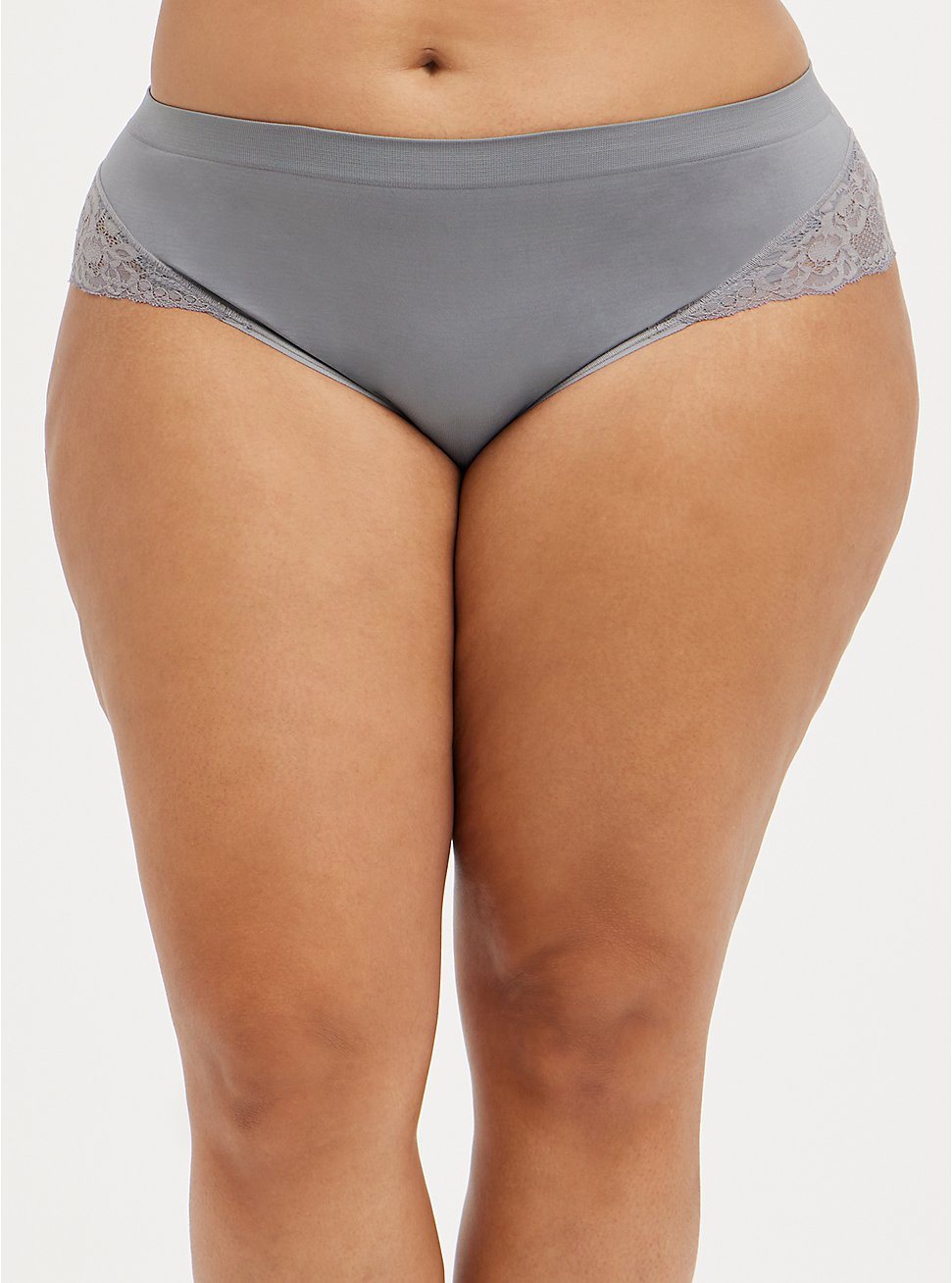Seamless Flirt Hipster Panty - Lace Silver, SILVER FILAGREE, hi-res