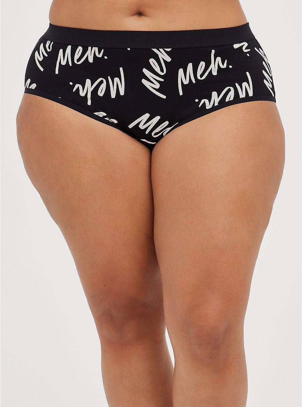 Cheeky Panty - Cotton Meh Black, MEH REPEAT BLACK, hi-res