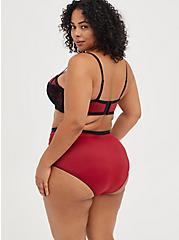 360° Smoothing Brief Panty - Microfiber Red & Black, BIKING RED, alternate