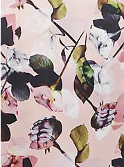 Self Tie Midi Robe - Satin Roses Pink , DREAMWEAVE ROSES, alternate