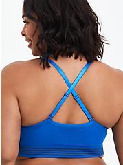 Blue Stripe Racerback Seamless Padded Bralette , LAPIS BLUE, alternate
