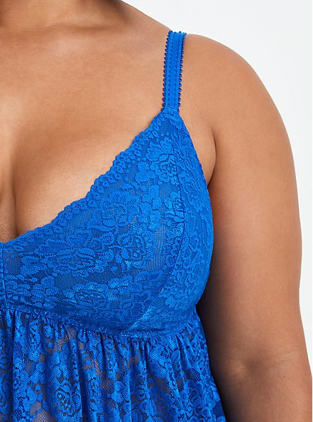 Lace Babydoll - Blue, LAPIS BLUE, alternate
