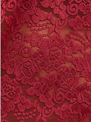 Plus Size V-Neck Babydoll - Lace Red, BIKING RED, alternate