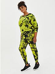 Green Tie Dye Wicking Active Legging, TIE DYE, alternate