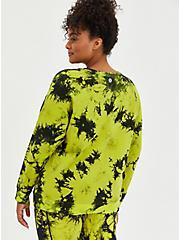 Green French Terry Tie Dye Active Sweatshirt , TIE DYE, alternate
