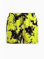Green French Terry Tie Dye Active Short, TIE DYE, hi-res