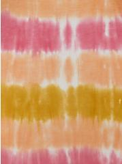Plus Size Pink Dip Dye Double Slit Super Soft Maxi Skirt, TIE DYE-PINK, alternate