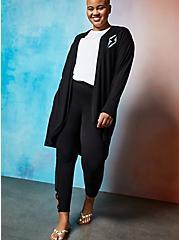Lovesick Lightning Bolt – Black Super Soft Cocoon Kimono, , alternate