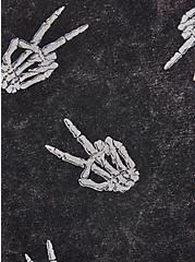 LoveSick Peace Skeleton - Black Wash Bike Short, TIE DYE, alternate