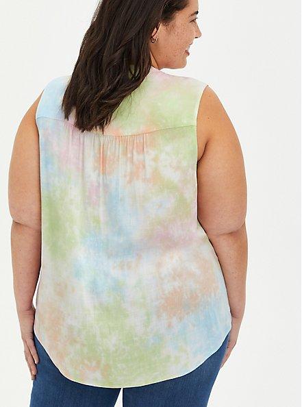 Harper - Multi Tie-Dye Rayon Pullover Tank, TIE DYE, alternate