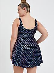 Scoop Neck Long Swim Dress - Mermaid, MULTI, alternate