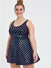 Scoop Neck Long Swim Dress - Mermaid, MULTI, hi-res