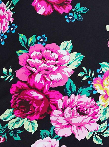 Scoop Neck Long Swim Dress - Floral, MULTI, alternate