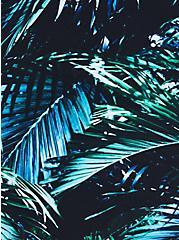 A-Line Mid-Length Swim Dress - Palms Print , MULTI, alternate