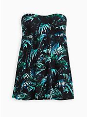 A-Line Mid-Length Swim Dress - Palms Print , MULTI, hi-res