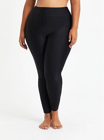 Full Length Swim Legging - Black , DEEP BLACK, hi-res