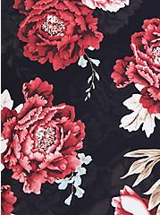 Floral Elbow Sleeve Side Cinch Swim Shirt, MULTI, alternate