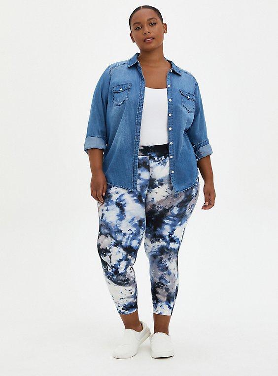 Crop Premium Legging - Ash Tie Dye, TIE DYE, hi-res