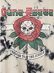 Guns N' Roses White & Black Wash Crew Tee, TIE DYE-BLACK, alternate