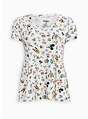 Disney Mickey & Friends Fit & Flare Top , MULTI, hi-res