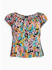 Disney Mickey & Friends Retro Off Shoulder Top, MULTI, hi-res