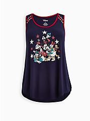 Disney Mickey & Friends Lace-Up Tank, PEACOAT, hi-res