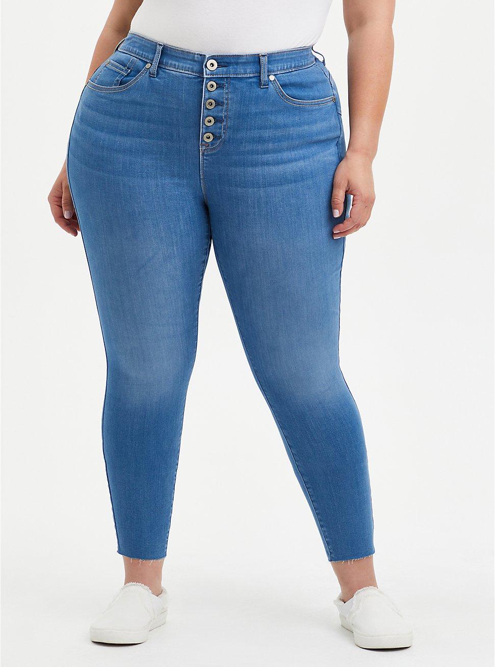 Bombshell Skinny Jean - Super Soft Eco Medium Wash, HIP HUGGER, hi-res