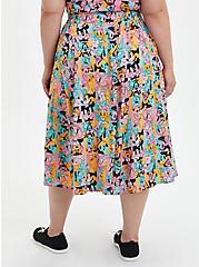 Plus Size Disney Mickey & Friends Retro Button-Up Midi Skirt, MICKEY AND FRIENDS, alternate
