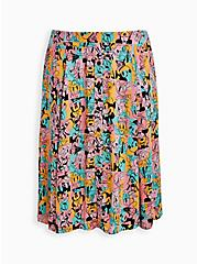 Plus Size Disney Mickey & Friends Retro Button-Up Midi Skirt, MICKEY AND FRIENDS, hi-res