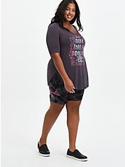 Plus Size Barbie Tie-Dye Bike Shorts, TIE DYE-BLACK, alternate