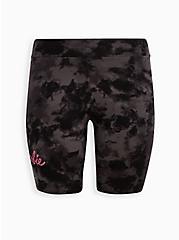 Plus Size Barbie Tie-Dye Bike Shorts, TIE DYE-BLACK, hi-res