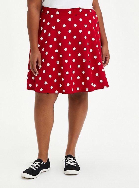 Disney Minnie Mouse Red & White Dot Scuba Skirt, MINNIE MOUSE DOT, hi-res