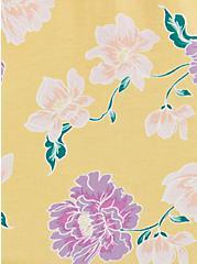 Super Soft Yellow Floral Cold-Shoulder Top, OTHER PRINTS, alternate