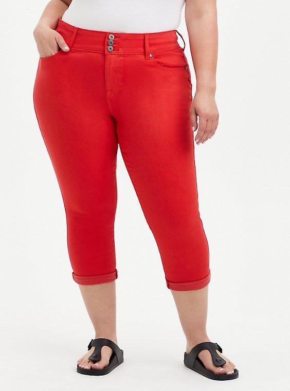 Crop Jegging - Super Soft Red, FIERY RED, hi-res
