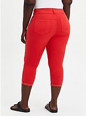 Plus Size Crop Jegging - Super Soft Red, , fitModel1-alternate