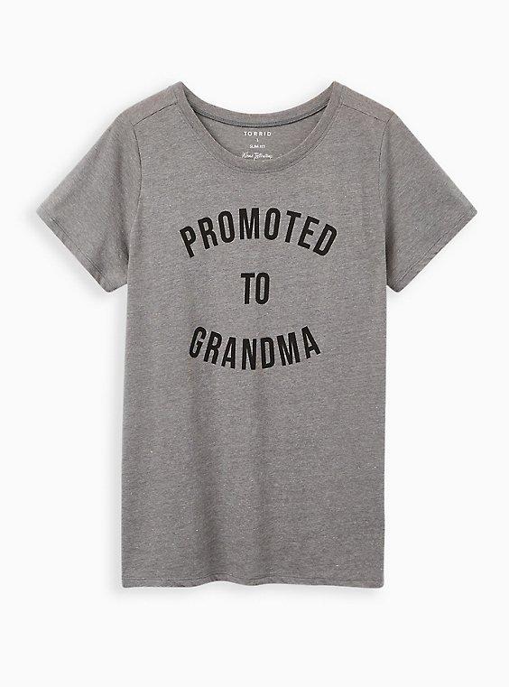 Slim Fit Crew Tee - Grandma Heather Grey, , hi-res