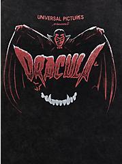 Universal Monsters Dracula Mineral Wash Slash Top, DEEP BLACK, alternate