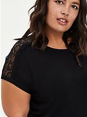 Lace Dolman Top - Super Soft Black, DEEP BLACK, alternate