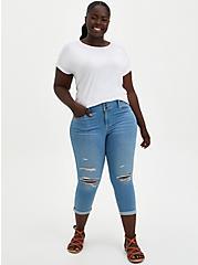 Lace Dolman Top - Super Soft White, BRIGHT WHITE, alternate