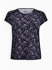 Plus Size Lace Dolman Top - Super Soft Black Skull , OTHER PRINTS, hi-res
