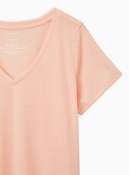 Girlfriend Tee - Signature Jersey Peach, PEACH NECTAR, alternate