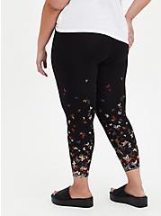 Crop Premium Legging - Butterfly Fade Black, BLACK, alternate