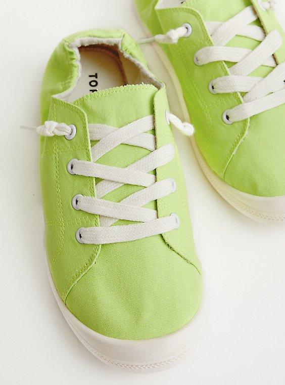 Riley - Neon Green Canvas Sneaker (WW), NEON GREEN, hi-res