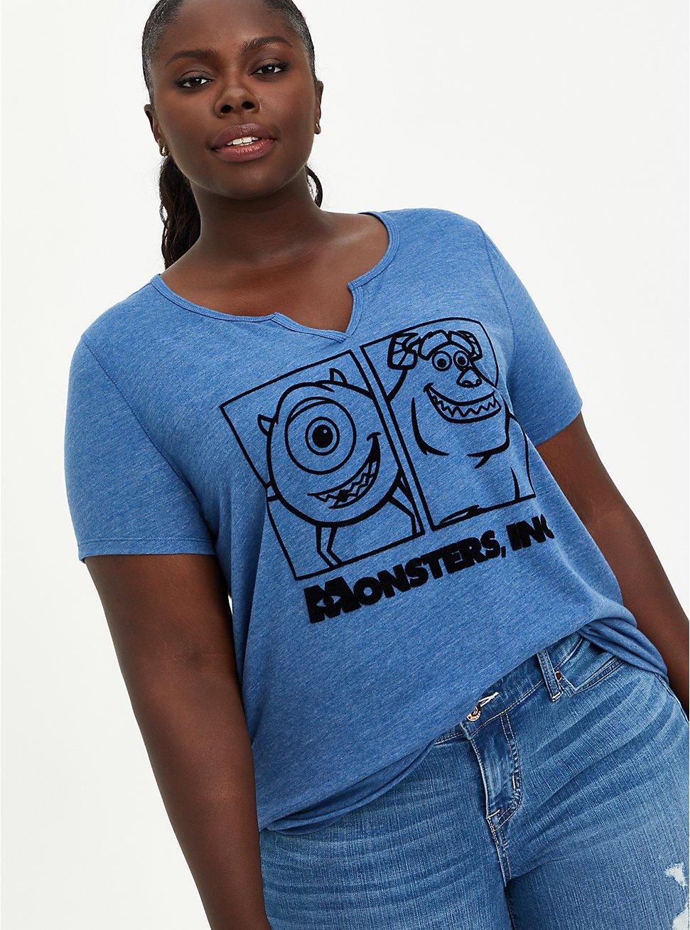 Disney Monsters Inc Mike & Sulley Top, TRUE BLUE, hi-res
