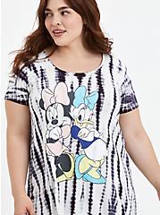 Disney Mickey & Friends Minnie & Daisy Super Soft Tie Dye Tunic, CLOUD DANCER, alternate