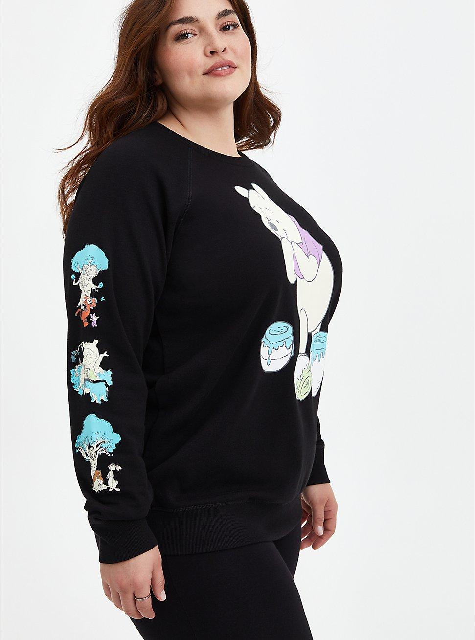 Plus Size Disney Winnie the Pooh Sweatshirt, DEEP BLACK, hi-res