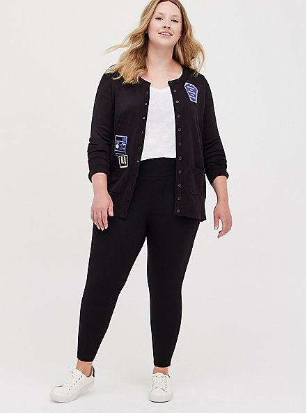 Beetlejuice Black Polaroid Cardigan, DEEP BLACK, alternate