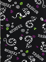 Beetlejuice Sandworm Button Down Tunic - Chiffon Black, MULTI, alternate
