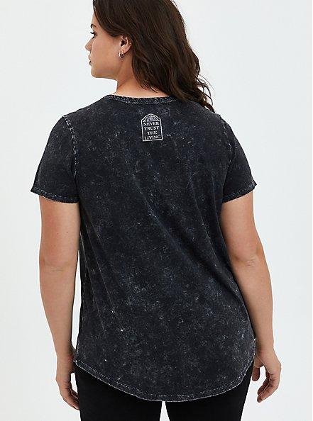 Beetlejuice Lace Up Top - Mineral Wash Black, DEEP BLACK, alternate